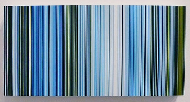 William Betts ,   Embankment  ,  2005     Acrylic on composite, Acrylic paint on mirror acrylic ,  6 x 12 inches (15 x 30.5 cm)