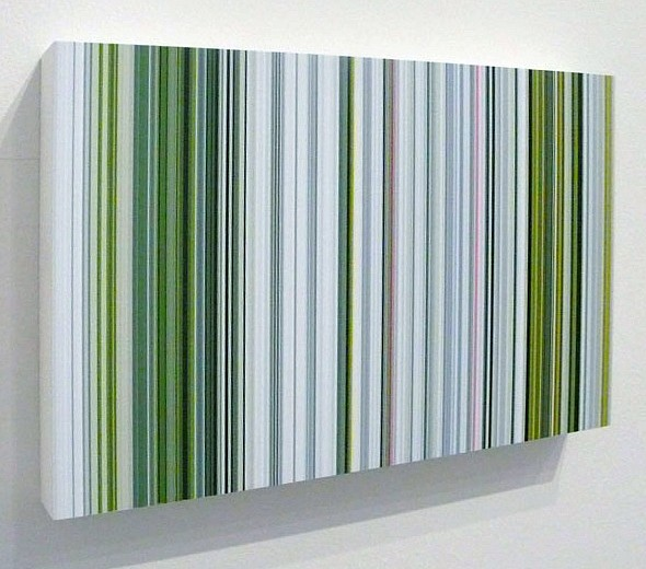 William Betts ,   Estuary  ,  2005     Acrylic on composite ,  6 x 12 inches (15 x 30.5 cm)