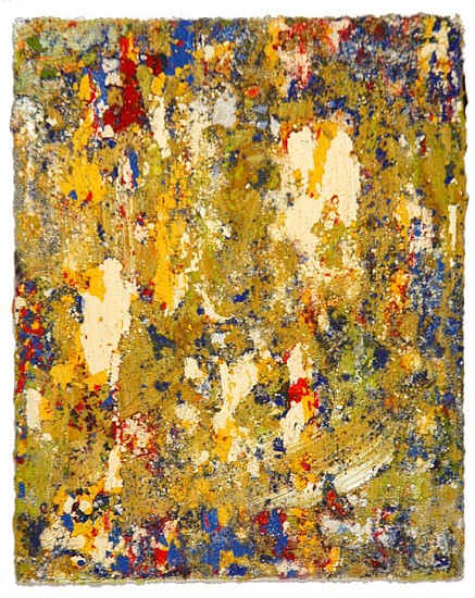 Rainer Gross ,   98-06  ,  2006     Oil and pigments on paper, signed on reverse ,  10 x 8 inches (25 x 20 cm) / Framed: 14 x 11.75 inches (35.5 x 30 cm)