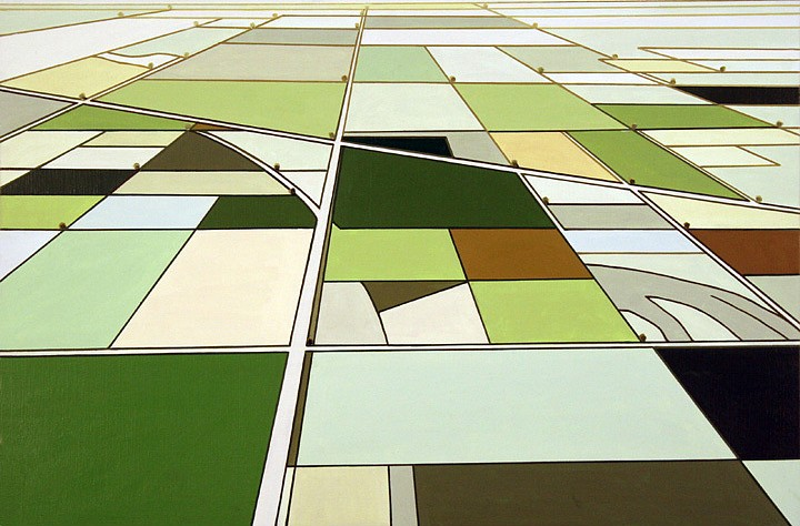 William Steiger, Aerial Survey #2 2011, Oil on linen