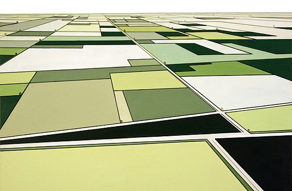 William Steiger, Aerial Survey #1 2011, Oil on linen