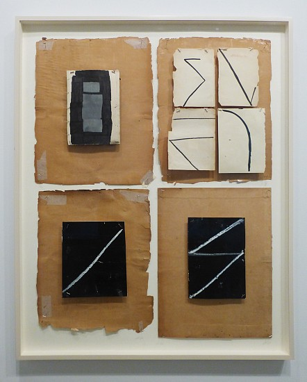 Nan Swid, Black Four 2011-2012, Mixed media on paper
