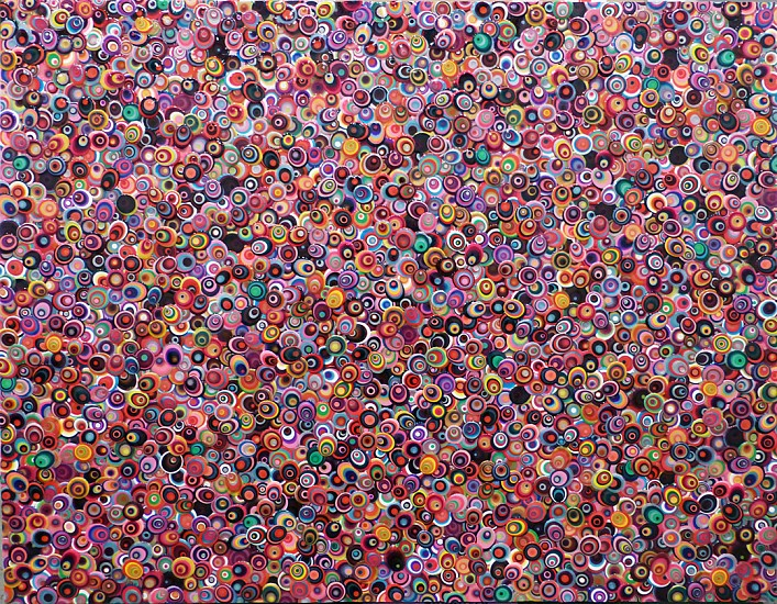 Omar Chacon ,   Nimaima  ,  2014     Acrylic on canvas ,  42 x 54 inches (107 x 137 cm)