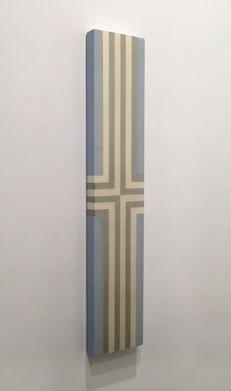 Heidi Spector ,   You Bring Me Closer To God  ,  2014     Liquitex with resin on birch panel ,  48 x 9 inches (122 x 23 cm)