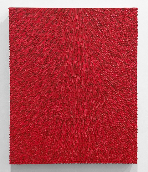 Omar Chacon, Variation #1 of Mesalina Roja VA 2016, Acrylic on canvas