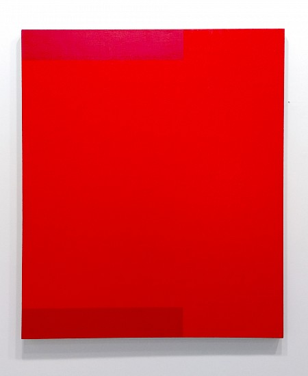 Frank Badur ,   Untitled (Red)  ,  1994     Oil and alkyd on linen ,  48 x 40 inches (122 x 102 cm)