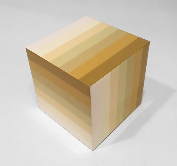 Heidi Spector, White Cube Liquitex with resin on birch panel