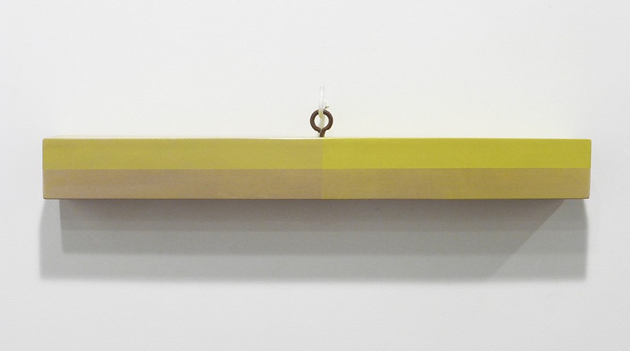 Kevin Finklea ,   Lost & Found #9  ,  2021     Acrylic on poplar and pine ,  5 1/2 x 32 1/4 x 3 3/4 inches